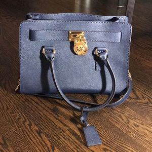 Dark Blue Michael Kors Satchel